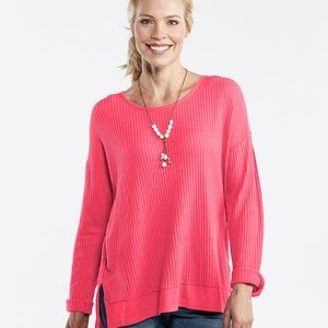 Fresh produce pink Thermal Portland top xs/s